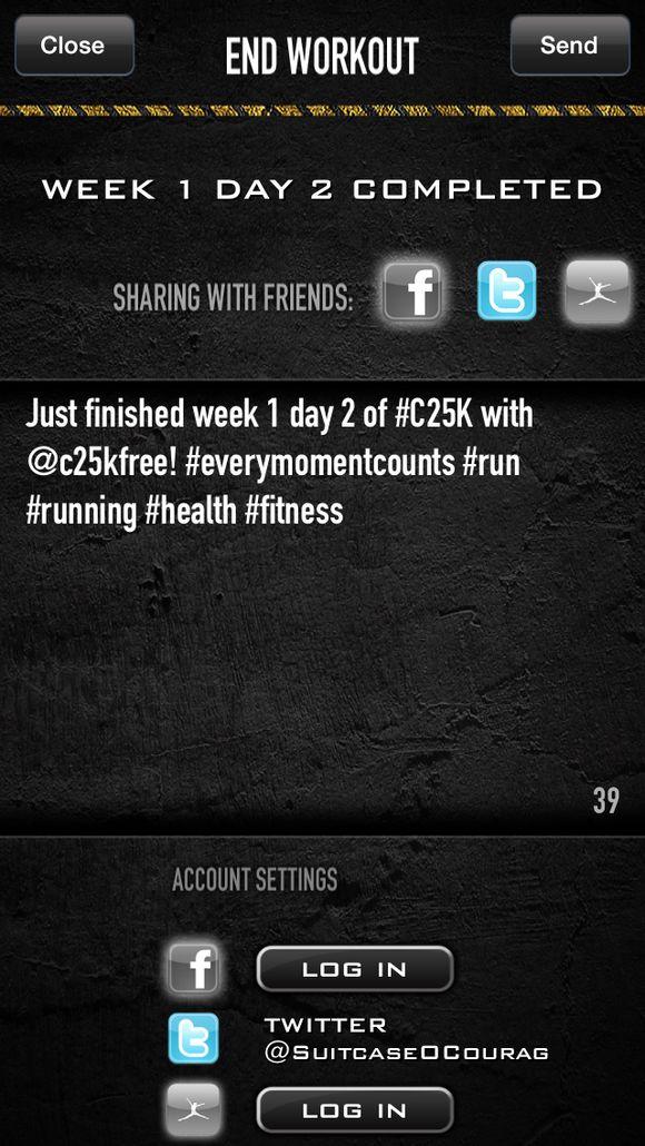 C25k screen